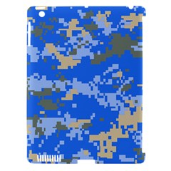 Oceanic Camouflage Blue Grey Map Apple Ipad 3/4 Hardshell Case (compatible With Smart Cover) by Mariart