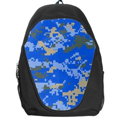 Oceanic Camouflage Blue Grey Map Backpack Bag by Mariart