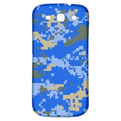 Oceanic Camouflage Blue Grey Map Samsung Galaxy S3 S Iii Classic Hardshell Back Case by Mariart