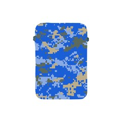 Oceanic Camouflage Blue Grey Map Apple Ipad Mini Protective Soft Cases by Mariart
