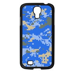 Oceanic Camouflage Blue Grey Map Samsung Galaxy S4 I9500/ I9505 Case (black) by Mariart