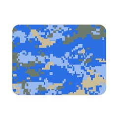 Oceanic Camouflage Blue Grey Map Double Sided Flano Blanket (mini)  by Mariart