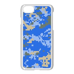 Oceanic Camouflage Blue Grey Map Apple Iphone 7 Seamless Case (white) by Mariart