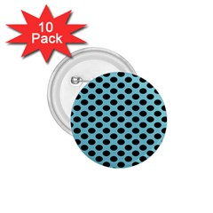 Polka Dot Blue Black 1 75  Buttons (10 Pack) by Mariart