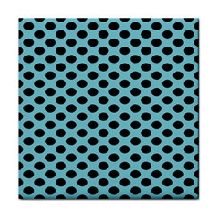 Polka Dot Blue Black Face Towel by Mariart