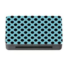 Polka Dot Blue Black Memory Card Reader With Cf by Mariart