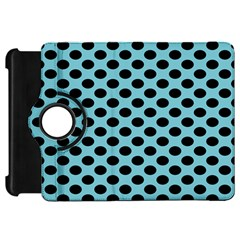 Polka Dot Blue Black Kindle Fire Hd 7  by Mariart