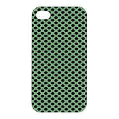 Polka Dot Green Black Apple Iphone 4/4s Hardshell Case by Mariart