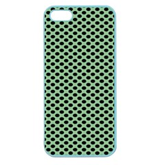 Polka Dot Green Black Apple Seamless Iphone 5 Case (color) by Mariart