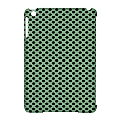 Polka Dot Green Black Apple Ipad Mini Hardshell Case (compatible With Smart Cover) by Mariart