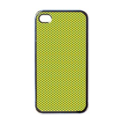 Polka Dot Green Yellow Apple Iphone 4 Case (black) by Mariart