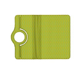 Polka Dot Green Yellow Kindle Fire Hd (2013) Flip 360 Case by Mariart