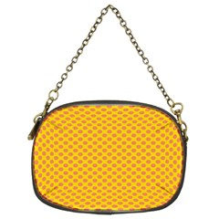 Polka Dot Orange Yellow Chain Purses (two Sides)  by Mariart