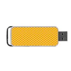 Polka Dot Orange Yellow Portable Usb Flash (one Side) by Mariart