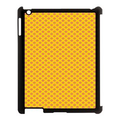 Polka Dot Orange Yellow Apple Ipad 3/4 Case (black) by Mariart