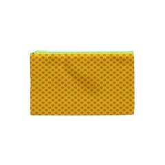 Polka Dot Orange Yellow Cosmetic Bag (xs) by Mariart