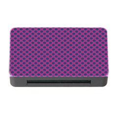 Polka Dot Purple Blue Memory Card Reader With Cf by Mariart