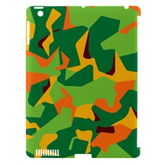 Initial Camouflage Green Orange Yellow Apple Ipad 3/4 Hardshell Case (compatible With Smart Cover) by Mariart