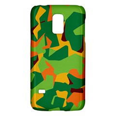 Initial Camouflage Green Orange Yellow Galaxy S5 Mini by Mariart