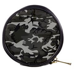 Initial Camouflage Grey Mini Makeup Bags by Mariart