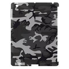 Initial Camouflage Grey Apple Ipad 3/4 Hardshell Case (compatible With Smart Cover) by Mariart