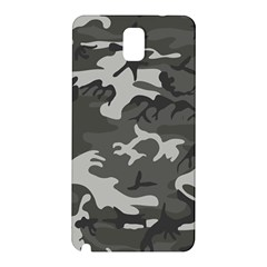 Initial Camouflage Grey Samsung Galaxy Note 3 N9005 Hardshell Back Case by Mariart