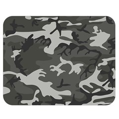 Initial Camouflage Grey Double Sided Flano Blanket (medium)  by Mariart