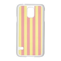 Pink Yellow Stripes Line Samsung Galaxy S5 Case (white) by Mariart