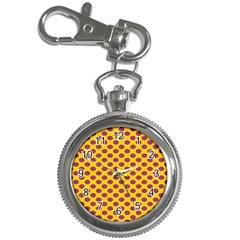 Polka Dot Purple Yellow Key Chain Watches by Mariart