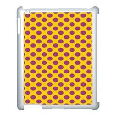 Polka Dot Purple Yellow Apple Ipad 3/4 Case (white) by Mariart