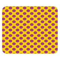 Polka Dot Purple Yellow Double Sided Flano Blanket (small)  by Mariart