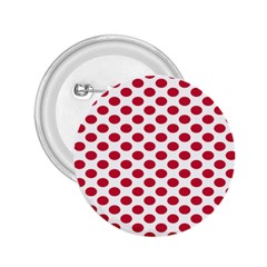 Polka Dot Red White 2 25  Buttons by Mariart