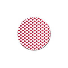 Polka Dot Red White Golf Ball Marker (10 Pack) by Mariart