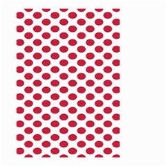 Polka Dot Red White Small Garden Flag (two Sides) by Mariart