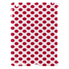 Polka Dot Red White Apple Ipad 3/4 Hardshell Case (compatible With Smart Cover) by Mariart