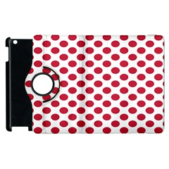 Polka Dot Red White Apple Ipad 2 Flip 360 Case by Mariart