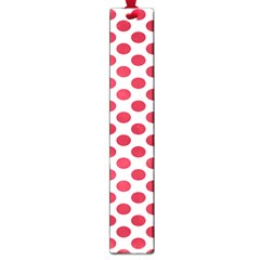 Polka Dot Red White Large Book Marks by Mariart