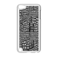 Plaid Black White Apple Ipod Touch 5 Case (white) by Mariart