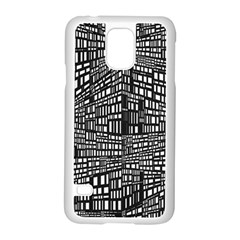 Plaid Black White Samsung Galaxy S5 Case (white) by Mariart