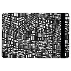 Plaid Black White iPad Air 2 Flip by Mariart