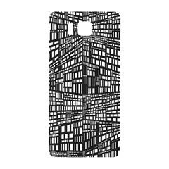 Plaid Black White Samsung Galaxy Alpha Hardshell Back Case by Mariart