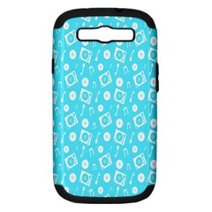 Record Blue Dj Music Note Club Samsung Galaxy S Iii Hardshell Case (pc+silicone) by Mariart