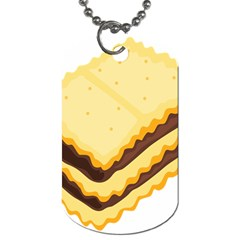 Sandwich Biscuit Chocolate Bread Dog Tag (two Sides) by Mariart