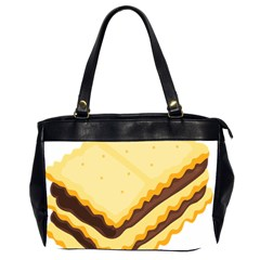 Sandwich Biscuit Chocolate Bread Office Handbags (2 Sides)  by Mariart