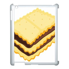 Sandwich Biscuit Chocolate Bread Apple Ipad 3/4 Case (white) by Mariart