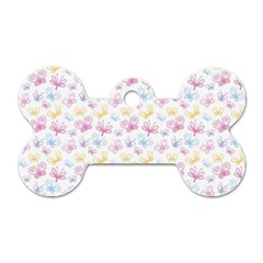 Pretty Colorful Butterflies Dog Tag Bone (one Side) by tarastyle