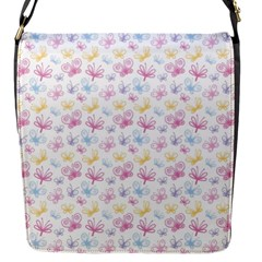 Pretty Colorful Butterflies Flap Messenger Bag (s) by tarastyle