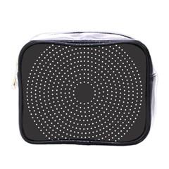 Round Stitch Scrapbook Circle Stitching Template Polka Dot Mini Toiletries Bags by Mariart