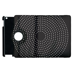 Round Stitch Scrapbook Circle Stitching Template Polka Dot Apple Ipad 2 Flip 360 Case by Mariart