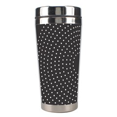 Round Stitch Scrapbook Circle Stitching Template Polka Dot Stainless Steel Travel Tumblers by Mariart